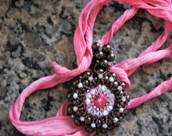 Beaded cabochon