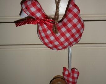 Handmade hanging geese inspired by Tilda