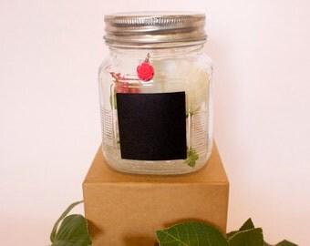 Chalk Jar Floral Arrangement