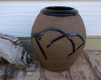 STONEWARE ART-DECO Vase...signed by artist