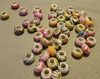 50 beads for European style Charm bracelet.