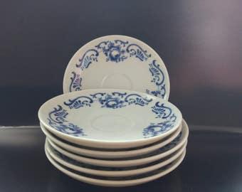 Gzhel 6 plates, 2 cups, 2 bowls