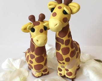 Giraffe Bride and Groom Wedding Cake Topper