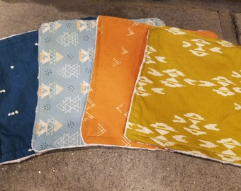 Set of 4 Large 9in x 9in Baby Washcloths