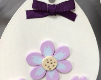 Cream and lilac hanging egg