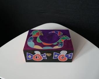 Tea chest 6 compartments