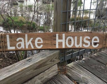 Handmade Lake House sign