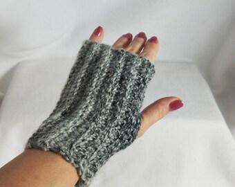 Ombre Crochet Finger-less Gloves