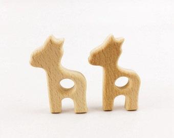Wooden Giraffe Teethers: 5 - 20 pcs