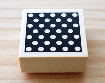 CLEARANCE SALE - Rubber stamp - Polka dots - Btype