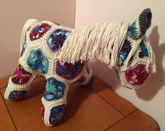 Crochet horse / pony - Fatty Lumpkin stuffed animal toy