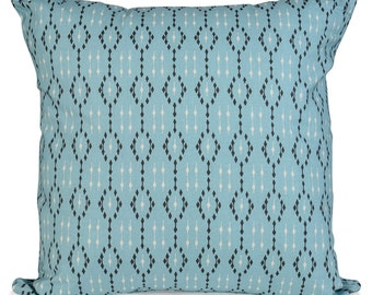 Ikat Teal Geometric  Cushions with Fillers Various Sizes 28cm , 36cm, 43cm , 60cm