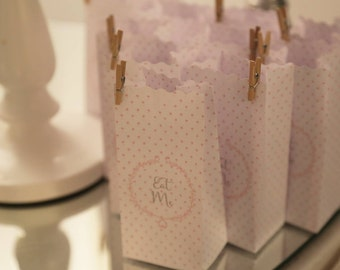 Set of 10 sachets for confetti