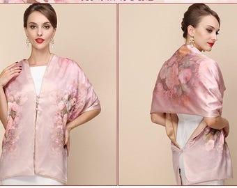 Pink Scarf, Festival Clothing, Boho Scarf, Handmade Scarf