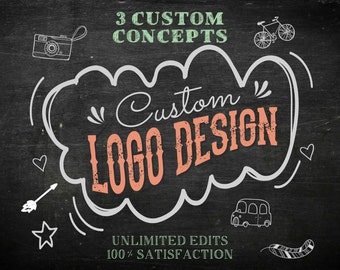 Logo Design Branding - Custom Logo Design Branding - Custom Branding Package - Logo Design - Branding Package - Watercolor Logo