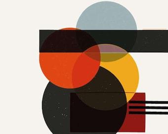 Bauhaus, shapes, colours, elements, handpainted, digital painting, form study, artwork, avant-garde, graphics, dots, circles