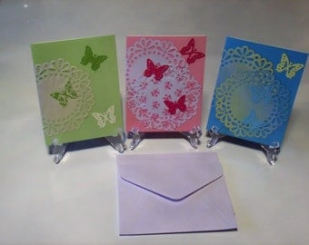 Notecard Set, Blank Cards, Handmade Notecards, Butterfly Notecards, Colorful Notecards, Gift for Her, Butterflies, Thinking of You Card