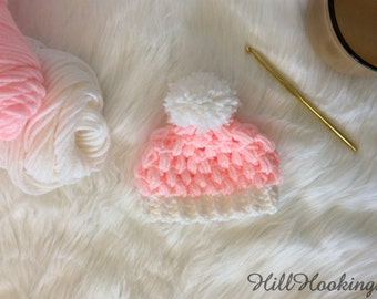 Preemie Baby Hat - Baby Shower Gift, Baby Beanie, Cute Hat, Multiple Colors, HillHookings