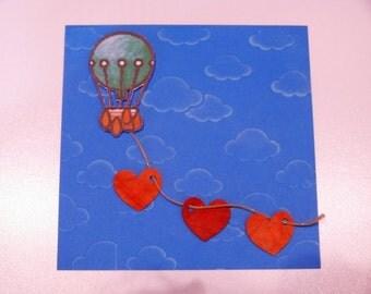 """Valentine's Day card """"Balloon"""""""