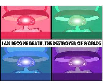 I am become death, destroyer of worlds. Poster 20x30 Print Matte/Pearl Finish