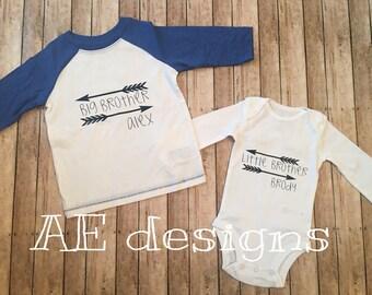 Sibling shirt sets. Big brother  big sister  little brother  litter sister. New baby new sibling. Shirt set siblings love matching