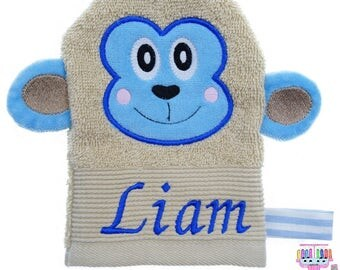Washcloth monkey named Liam