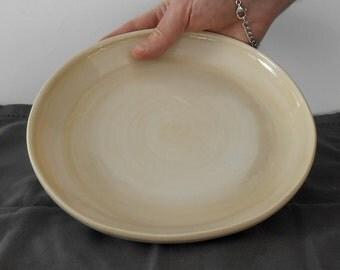 Curved plate ceramic top special biege