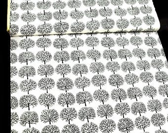 Cotton trees pattern black white graphically simple AH USA