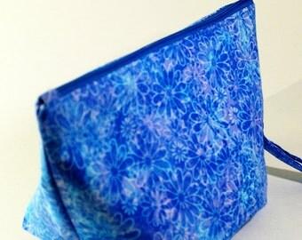 Project Bag, Knitting Project Bag, Crochet Project Bag, Batik Project Bag, Craft Storage, Cosmetics Bag