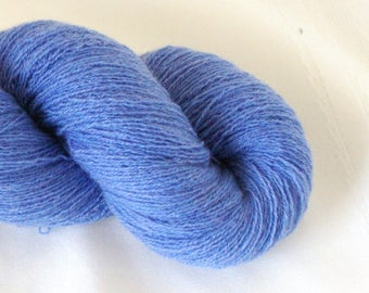 100% Cashmere Lace Weight Cornflower Blue Recycled Yarn, Blue Yarn, Lace Weight Yarn, Recycled Yarn, Cashmere Yarn