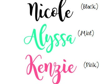 Vinyl Decal-Name - Name Decals Only- vinyl name- vinyl decal name cut out- children's name- personalize your name-