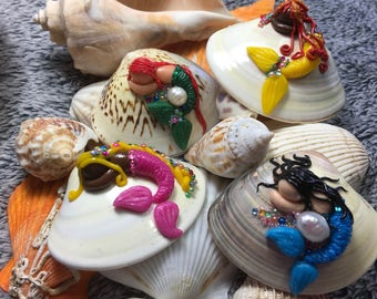 """Mermaids in cold porcelain """"Mermaids of collection"""" """"Miniatures"""""""