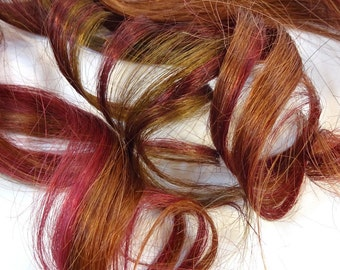 """Set of FOUR 16"""" Clip-In Human Hair Streaks, Maple"""