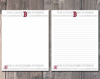 Boston Red Sox: MLB Printable Paper & Writing Paper