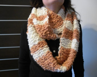 Loop Scarf white - salmon color