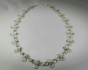 Sterling silver necklace Flower Patterns