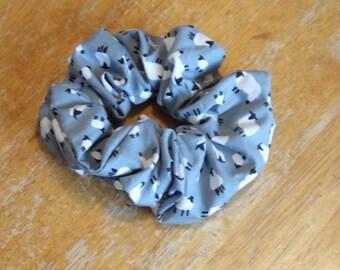 Hair ruffle / scrunchie with sheep