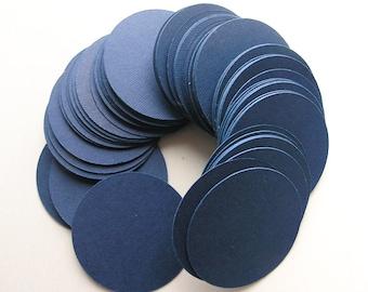 100pcs Dark Blue Circle Cardstock Round Paper Circles