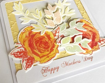 Mother's Day Card, Floral Mother's Day Card, Card for Mum, Card for Mom, Mothers Card, For mum, For mom, Thank you card, With thanks
