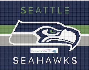 GRAPH PATTERN Seattle Seahawks Crochet Blanket