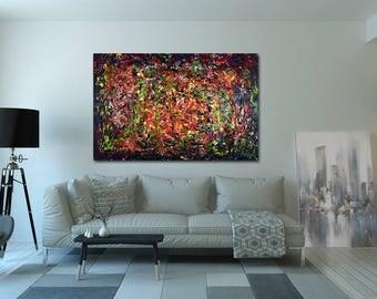 XXL abstract acrylic painting 115 x 74.5 cm (modern art, abstract, painting, acrylic)