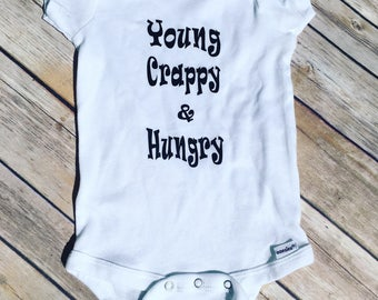 Young Scrappy & Hungry - Hamilton Baby - Young Crappy Hungry - Funny Baby - Broadway Musical Fashion - Funny Onesies