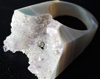Amethyst Hand Carved Ring