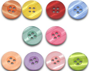 100 buttons, resin, resin, multi colored, button, 11500
