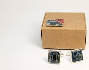 computer cufflinks / circuit cufflinks / gift for him