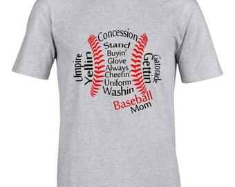 Baseball Mom Cool T shirt