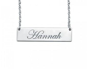 Cursive Bar Necklace