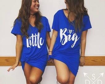 Big/Little Heart and Star Script Dresses