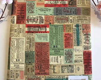 Vintage Travel Ticket (Large or kindle size )