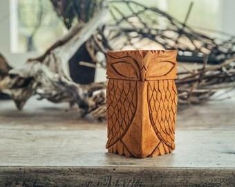 Handmade Wooden Owls